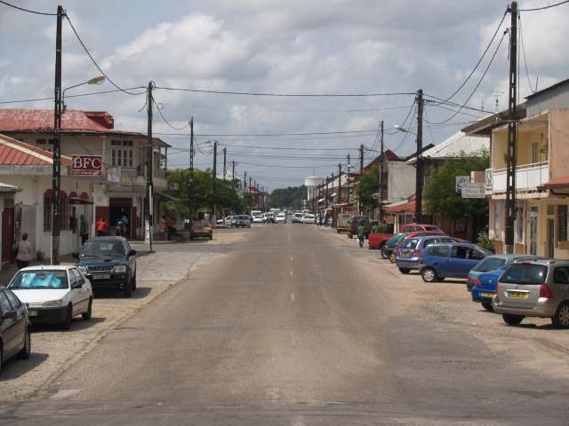 Een straat in Saint Laurent